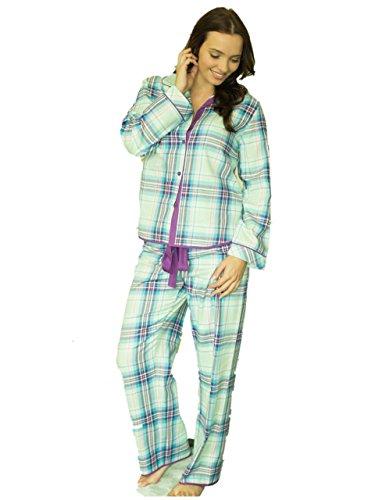 Cyber Jammies Water Lily Pyjama à carreaux tissée Vert - Green Check