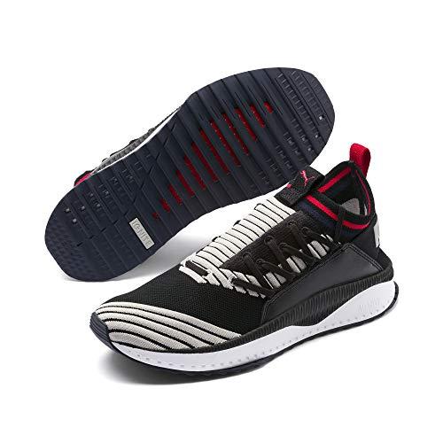 ca40dc39676 Puma Tsugi Jun Sport Stripes Sneaker Black-Gray Violet-Ribbon Red 11