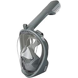 FYLDKFLM Masque de plongée en apnée Respirant avec Masque de plongée sous-Marin Anti-buée et Masque de plongée en apnée
