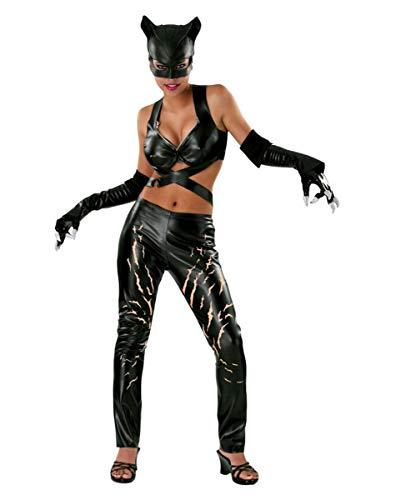 Deluxe Kostüm Catwoman - Catwoman Comic Deluxe Kostüm Damen 4 teilig Leggings Top Maske Handschuhe - S
