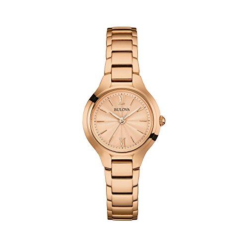 Bulova Classic 97L151 - Montre-bracelet de créateur pour femme - élégante - rose doré