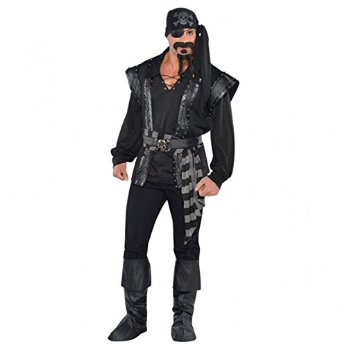 Adults Dark Sea Scoundrel Pirate Costume by Amscan International (Plus Size Erwachsenen Pirat Kostüme)
