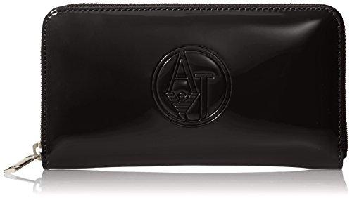 Armani Jeans Shoes & Bags De - 05V32Rj, Portafoglio da donna, nero (nero - black 12), 19x11x2 cm (B x H x T)
