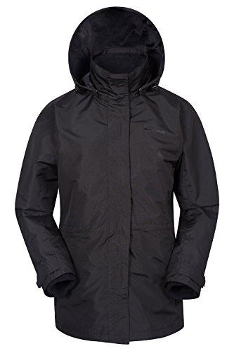 Mountain Warehouse Veste Femme Etanche 3 en 1 Intérieur Polaire détachable Fell Noir