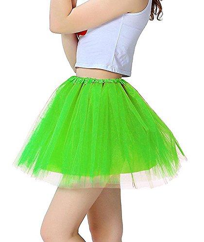 Wie Ballett-tutu Man (Mangotrree Frauen Organza Tutu Kleid (Green))