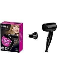 Braun Satin Hair 1 Style & Go HD130 Haartrockner, klappbarer Reiseföhn für unterwegs und auf Reisen