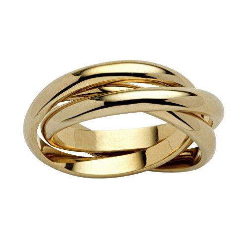 Rolling Ring - Trinity Ring - Vergoldet 14 Karat - 61 (19.4)
