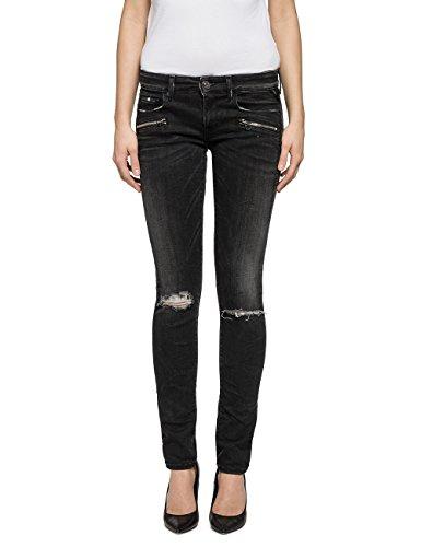 Replay Damen Jeanshose BRIGIDOT, Schwarz (Black Denim 9), W30/L30 (Herstellergröße: 30)