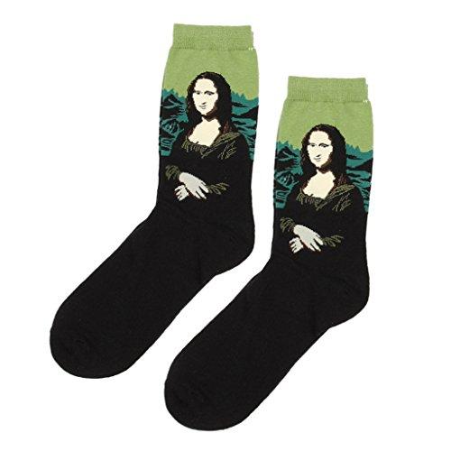 ocasionales-calcetines-de-media-pierna-calcetines-crew-pintura-clasica-para-hombres-mujeres-unisex-1