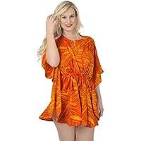 La Leela super soft kimono likre floweret donne arte coulisse 4 in 1 spiaggia di occultamento bikini tunica top abbigliamento casual di base plus size costume da bagno bikini donne KAFTAN