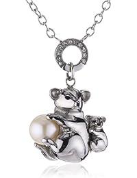 Morellato SKP04 - Koala - Collar de mujer de acero inoxidable con cristales y (1 perla), 45 cm