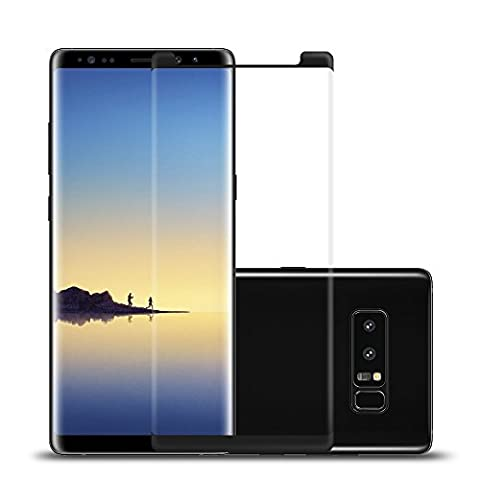 Samsung Galaxy Note 8 Protection écran en Verre Trempé,Ecoye 3D Curved Full Coverage Protection Ecran Case friendly pour Samsung Galaxy Note 8 Film de Protection en Verre Trempé Film Protecteur pour Samsung Galaxy Note