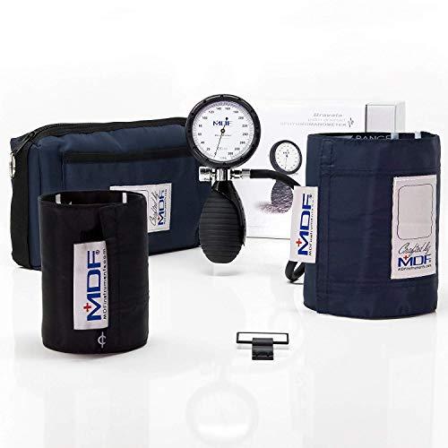 MDF® Bravata® Palm Aneroid Blutdruckmessgerät - professionelles Blutdruckmessgerät - Erwachsene / Kinder Manschette inbegriffen & Lebenslange Garantie/Free-Parts-for-Life - Marineblau (MDF848XPD-04) -