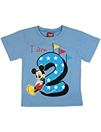 blau-wei/ß Geringelt Disney Jungen Mickey Mouse T-Shirt