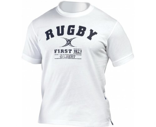 GILBERT Rugby First T-Shirt, Weiß, M