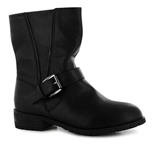 Miso Enfants Bella Biker Bt Jnr64 Casual Chaussures Botte Montante Bottines Noir