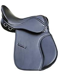"Sintético General Purpose halflinger sillín negro Wide Fit 17""asiento Premium calidad"