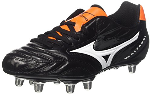 Mizuno Waitangi Cl, Scarpe da Rugby Uomo, Nero (Black/White/Orange Clown Fish), 42 EU