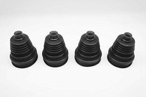 Autobahn88 Kit Universel de Remplacement de Botte de Joint de la CV de Vitesse Constante de Silicone Avec des Attaches de Tirette (Pack de 4 pièces) (noir)
