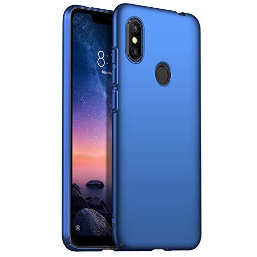 Capa 6 Pro Xiaomi Redmi Nota, Ultra Fino Caso Anti-Risco e Impressão Digital Resistente À Dura de Plástico Caso Capa Protetora para Xiaomi Redmi Nota 6 Pro-Azul