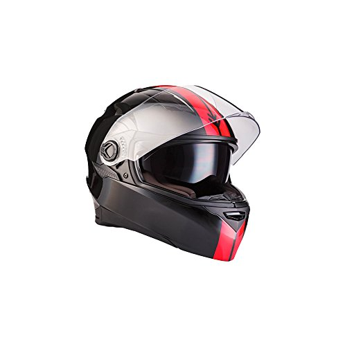ARROW AF-77 Racing Blare · Sturz-Helm Roller-Helm Sport Scooter-Helm Motorrad-Helm Cruiser Urban Helmet Integral-Helm · ECE zertifiziert · zwei Visiere · inkl. Stofftragetasche · Schwarz · XS (53-54cm)