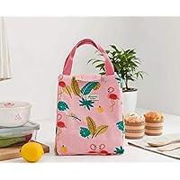 Preisvergleich für Yudanwin Leinwand-Lunch-Tasche Tragbare koreanische frische Isolierung wasserdicht Lunch Bag (Pink)