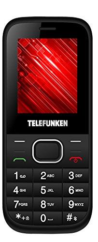 Telefunken TM 9.1 Classy 1.8' Negro, Color blanco Teléfono para personas mayores - Teléfono móvil (Barra, SIM doble, 4,57 cm (1.8'), 0,3 MP, 600 mAh, Negro, Blanco)