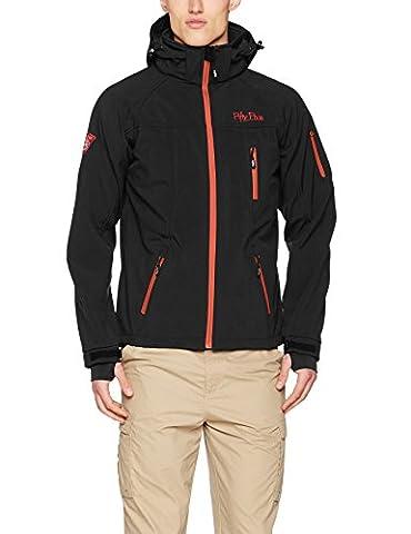 Softshell-Jacke Outdoor-Jacken Herren von Fifty Five - Alert anthracite/red M - FIVE-TEX Membrane für