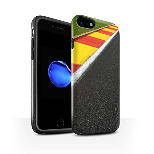 STUFF4 Glanz Harten Stoßfest Hülle / Case für Apple iPhone 8 / Pack 5pcs / Rennstrecke Foto Kollektion Apex/Schikane