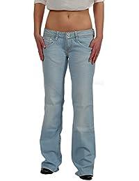 Kuyichi Boot Cut Jeans–Ceinture Femme Jeans Amy Summer Blue–Commerce équitable