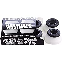 Bones Wheels Bushings 96a Hardcore Hard Set - Tornillería de skateboard, color blanco, talla 2.3 x 1,5 x 2.3