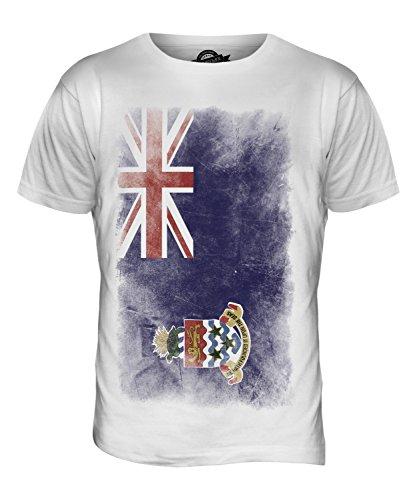 CandyMix Cayman Islands Verblichen Flagge Herren T Shirt Weiß