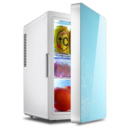 Preisvergleich Produktbild CivilWeaEU 16 Liter Auto-Kühlraum des Auto Dual-Mini-Kühlschrank Gefrierschrank Kleine Haushaltskühlschränke ( Farbe : Weiß )