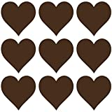 kleb-drauf® - 9 Herzen/Mint - matt - Aufkleber zur Dekoration von Wänden, Glas, Fliesen und allen anderen glatten Oberflächen im Innenbereich; aus 19 Farben wählbar; in matt oder glänzend