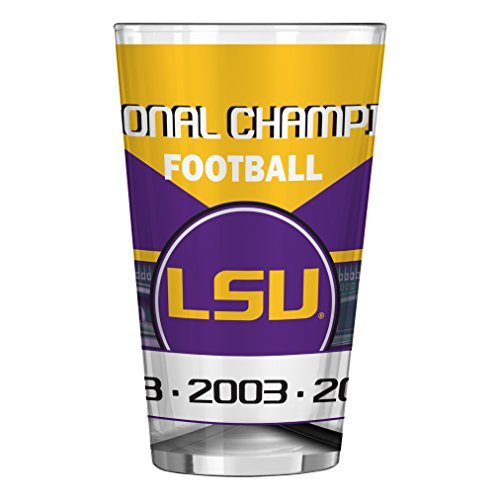 NCAA LSU Tigers Champ Serie Sublimated Pint, 473 ml