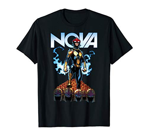 Marvel Nova Guardians of the Galaxy Helmet Graphic T-Shirt (Nova Shirt Marvel)