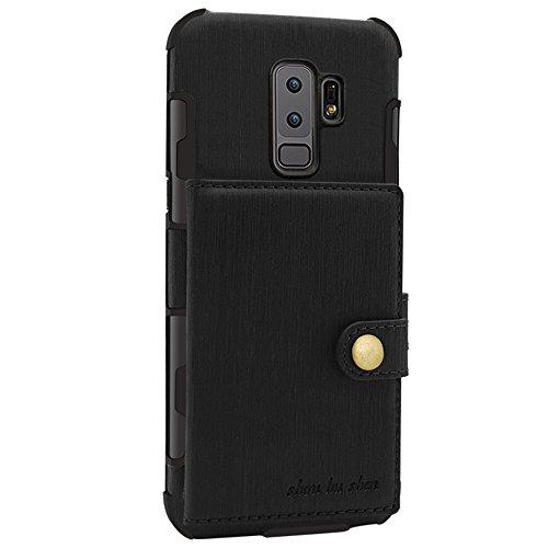 FLY HAWK Hülle Handy Wallet mit Kartenfächer Lederhülle Wallet Case Schutzhülle Taschen [Premium PU] [Geldbörse] für Samsung Galaxy S8/S9 [Galaxy S8/S9 Plus] [Note 8/9] in vielen Farben Plus-handy-fall