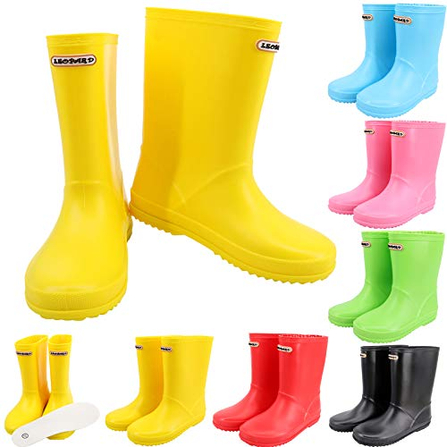 Leopard CUB Unisex Kids Wellies Wellington Rain Boots Baby Infant Toddler Waterproof Non-Slip Rain Shoes