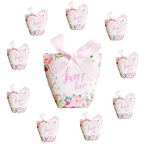 Billty 10 Stück Hochzeitsbevorzugung Pralinenschachtel Geschenkboxen Kuchen Kekse Leckereien Süßigkeiten Handgemachtes Baby Bad Duschseifen Geschenkboxen Weihnachten Geburtstage Feiertage Hochzeiten (Einfache Sehr Halloween-leckereien)