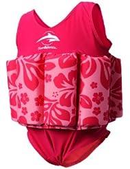 Konfidence Float Suit Badeanzug integrierter Auftrieb Pink/Hibiscus 4 - 5 Jahre NEU