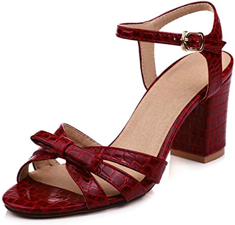Zapatos de Mujer Sandalias de Tacón Zapatos de Tacón Alto Verano Mediados de Tacón Alto