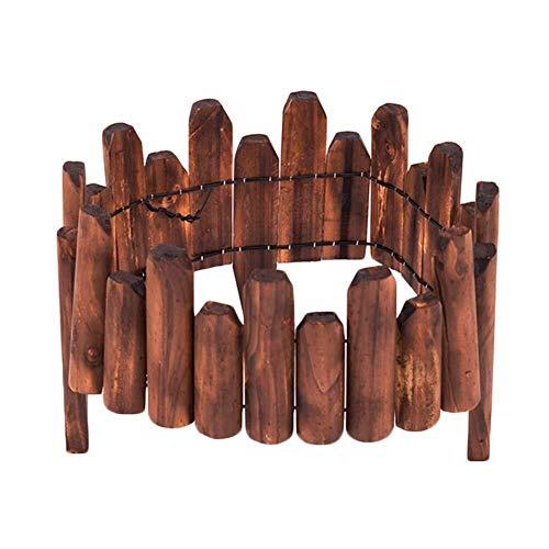 LJFYMX beeteinfassung Der Lattenzaun ist 120 cm lang, hat eine Holzbordüre, EIN Blumenbeet, eine Rasenkante oder einen Zaun Lattenzaun (Size : 120×10/15cm)