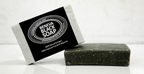 Mensch Bio-bienenwachs (Beneva Black Soap | Handgemachte Seife aus Aktivkohle | pH-Neutral (Wert 5) | 125g | Lavendel-Öl | Ideal für Kinder, ältere Menschen und fettige Hauttypen | Gibt deiner Haut einen natürlichen Glanz)
