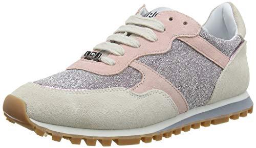 Liu jo shoes alexa-running, scarpe da ginnastica basse donna, multicolore (white/pink s1006), 39 eu