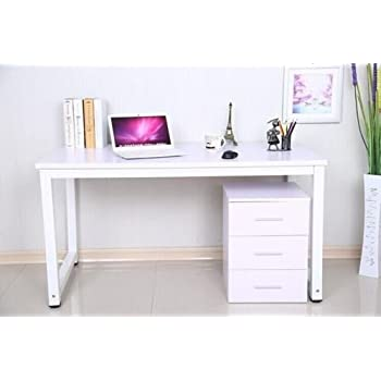 This Item LIVIVO ® Modern Style 1.2m Long Home Office Computer Pc Laptop  Desk Study Table Workstation Console Table Wooden Metal Frame ( Pinkish  White ) Part 96