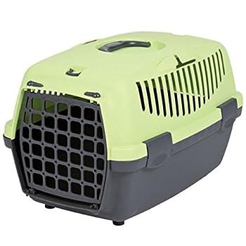 Trixie Boîte de Transport Capri 2 Gris/Vert Pomme 32 × 31 × 48 cm pour Chat