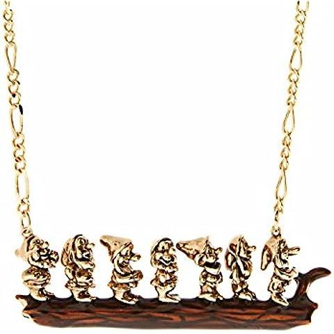 Disney Couture-Collana placcata oro 14 kt, smaltato & Snow White Seven-Collana Dwarves