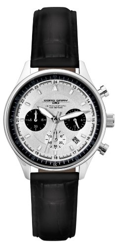 Jorg Gray Ladies Commemorative Edition Quartz Chronograph Watch JG6550L With Natural Leather Strap and White Dial