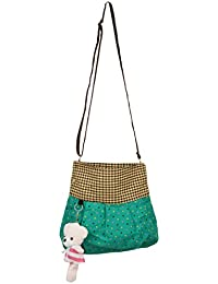 Trendz Girl's Sling Bag(Sea Green,74)