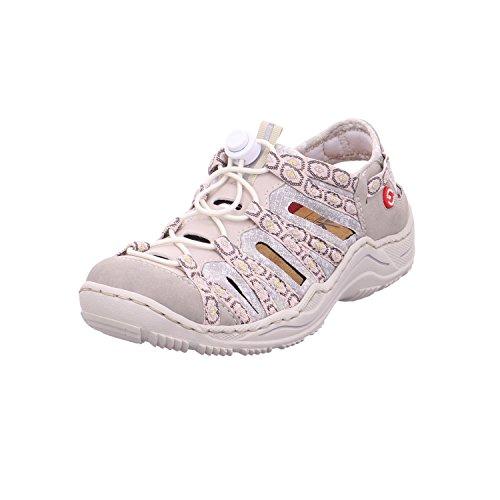 Rieker Damen Sandalen Beige, Schuhgröße:EUR 41